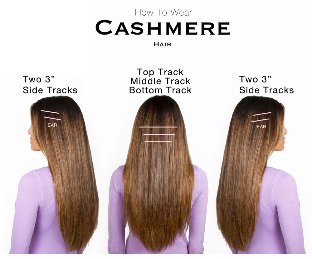 luxury archives cashmere hair clip in extensions