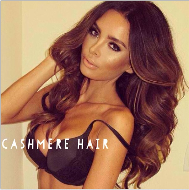 MODEL Sarah Stage wearing her CASHMERE HAIR CLIP IN Extensions!