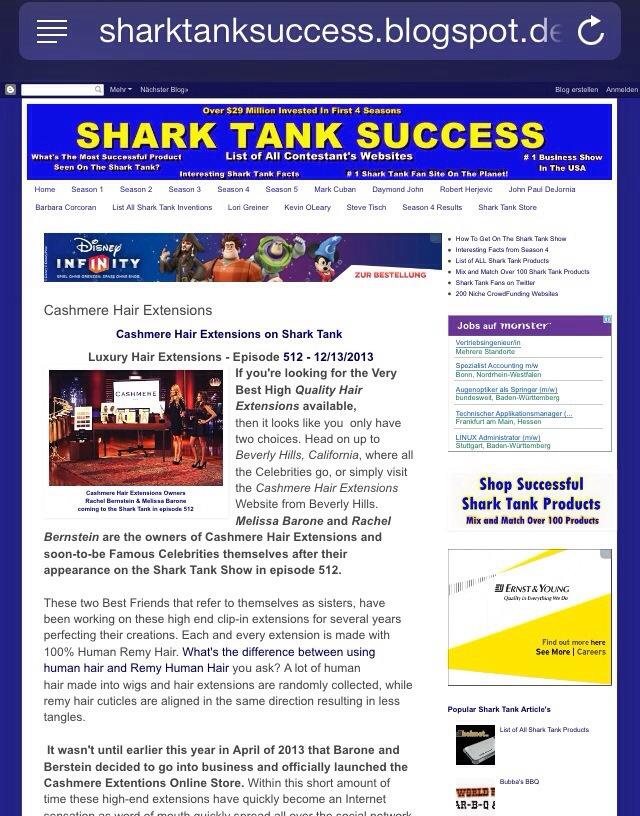 Shark Tank Success! Cashmere Hair Extensions on Shark Tank