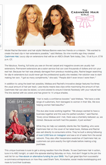 CASHMERE HAIR FEATURED ON BIG COMMERCE BLOG