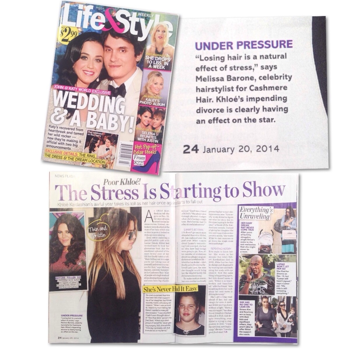 Cashmere Hair in LIFE & STYLE MAGAZINE