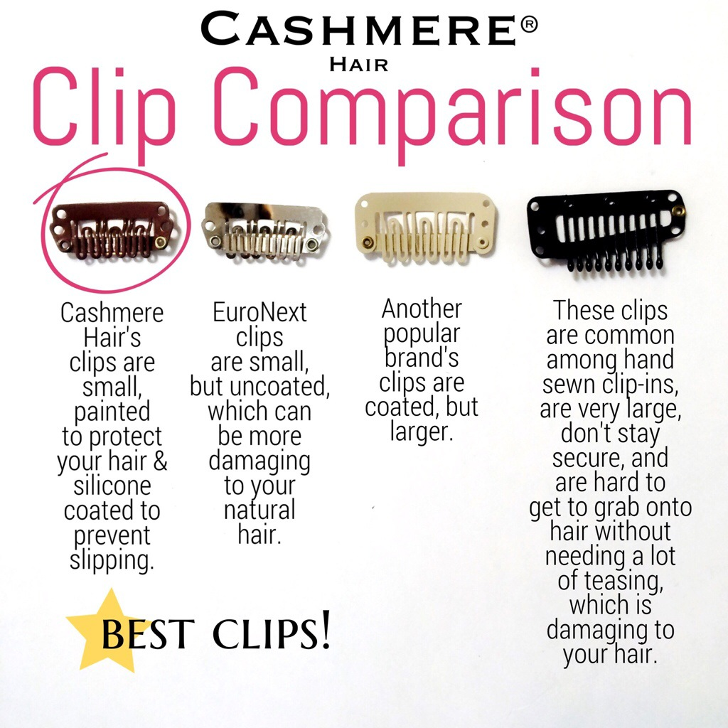 Cashmere Hair Clips Vs Other Clips Cashmere Hair Clip In Extensions