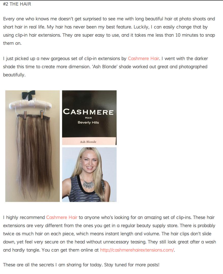 cashmere hair beauty bunny 1