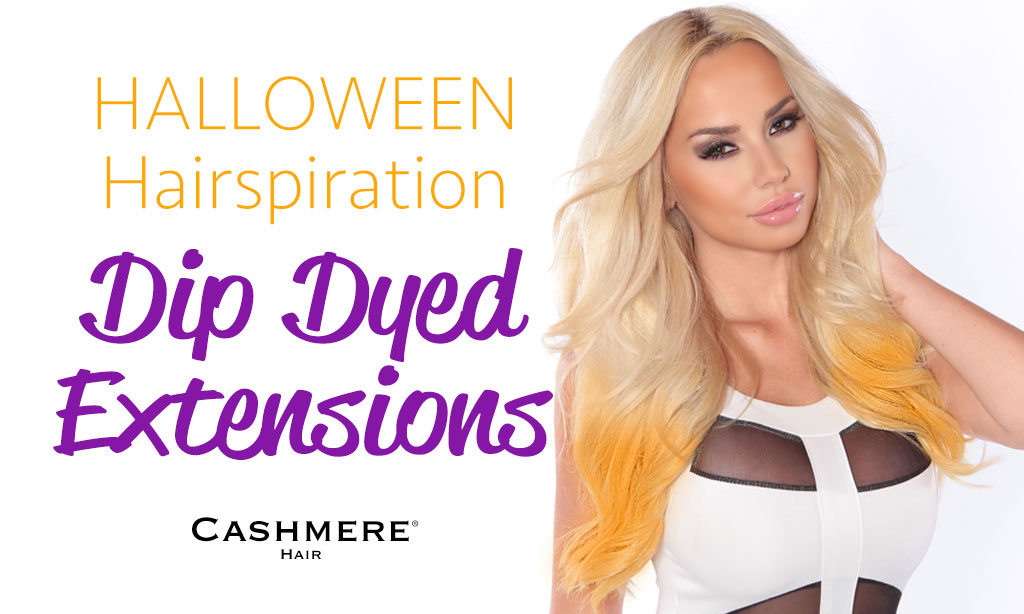Halloween Hair Inspiration: Dip Dyed Extensions