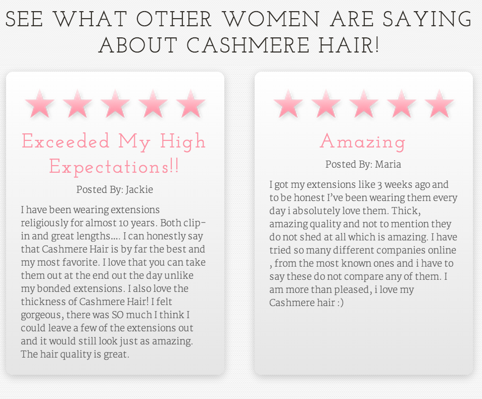 cashmere hair clip in extensions REVIEWS