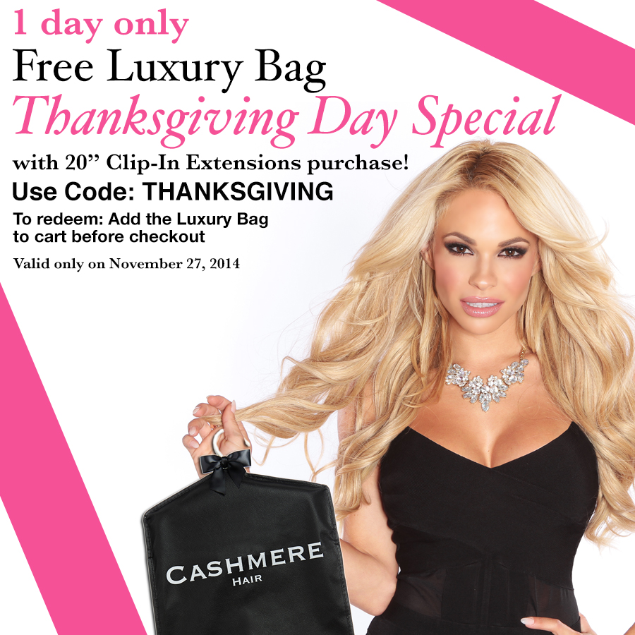 Thanksgiving Day Special Free Gift With Purchase Cashmere Hair