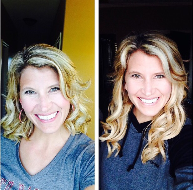 Sunset blonde before after cashmere hair clip in extensions cashmere hair before and after pmusecretfo Images