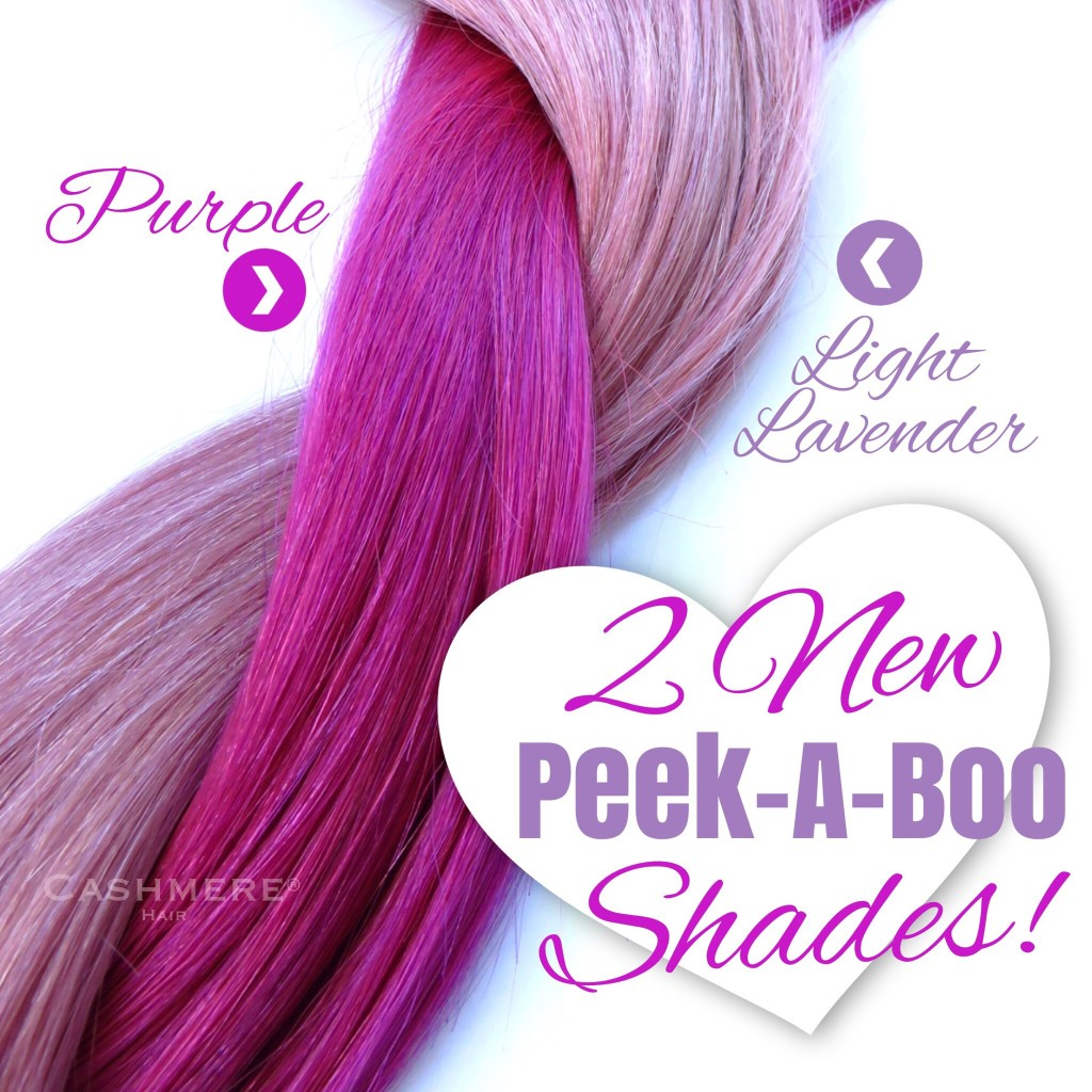 cashmere hair purple