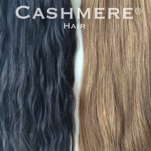 wavy texture vs straight cashmere hair