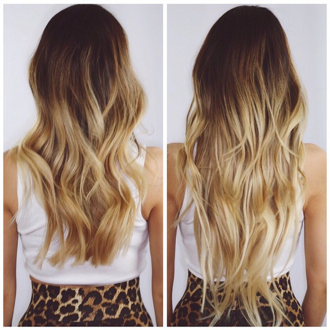 """20"""" 9021Ombre Before & After Cashmere Hair"""