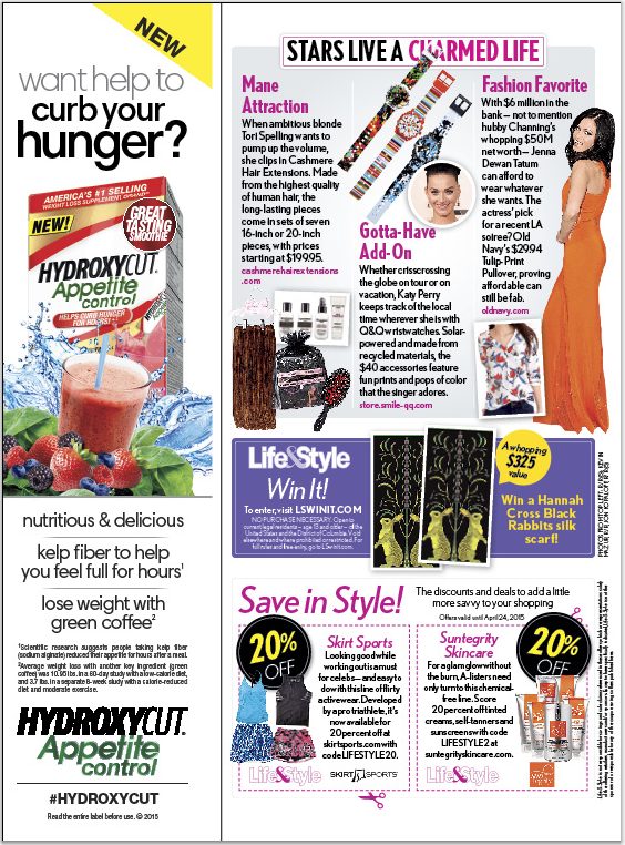 As Seen In LIFE & STYLE Magazine