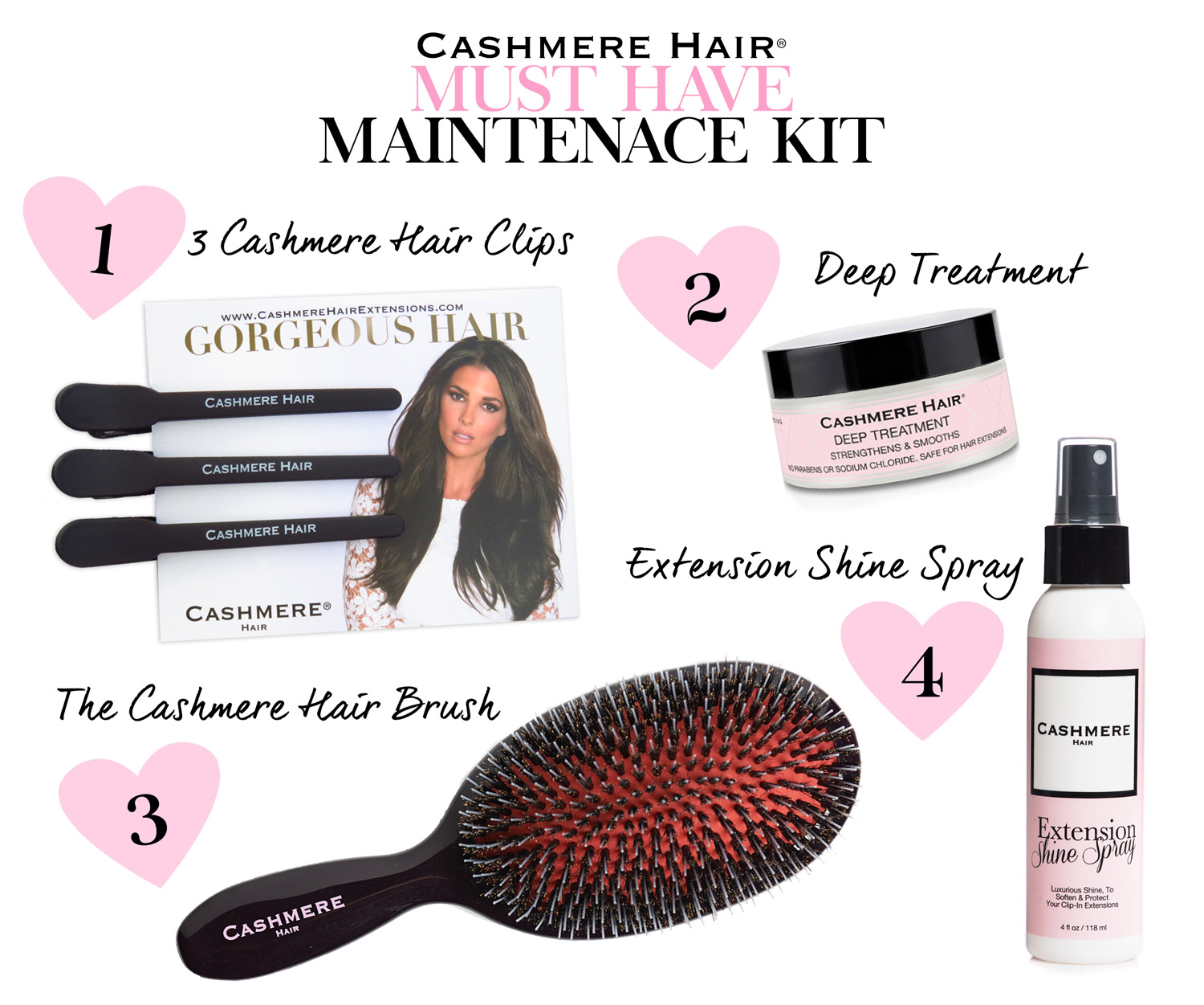 NEW CASHMERE HAIR MAINTENANCE KIT!