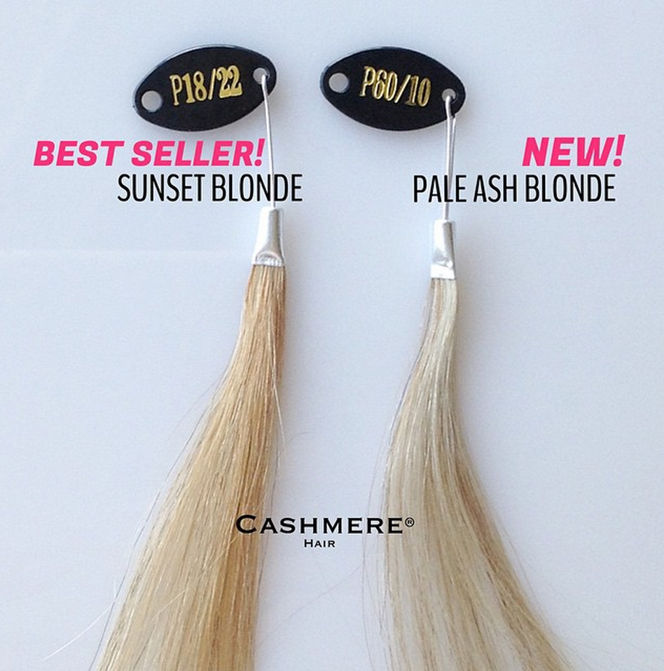 Sunset Blonde Vs. NEW Pale Ash Blonde Cashmere Hair