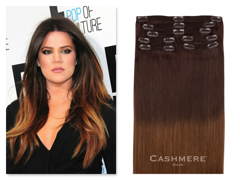 Get Khloe Kardashian's Ombre Looks With Cashmere Hair