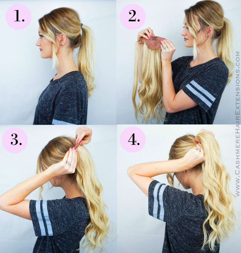 Easy Wrap Ponytail Extensions Cashmere Hair Clip In Extensions