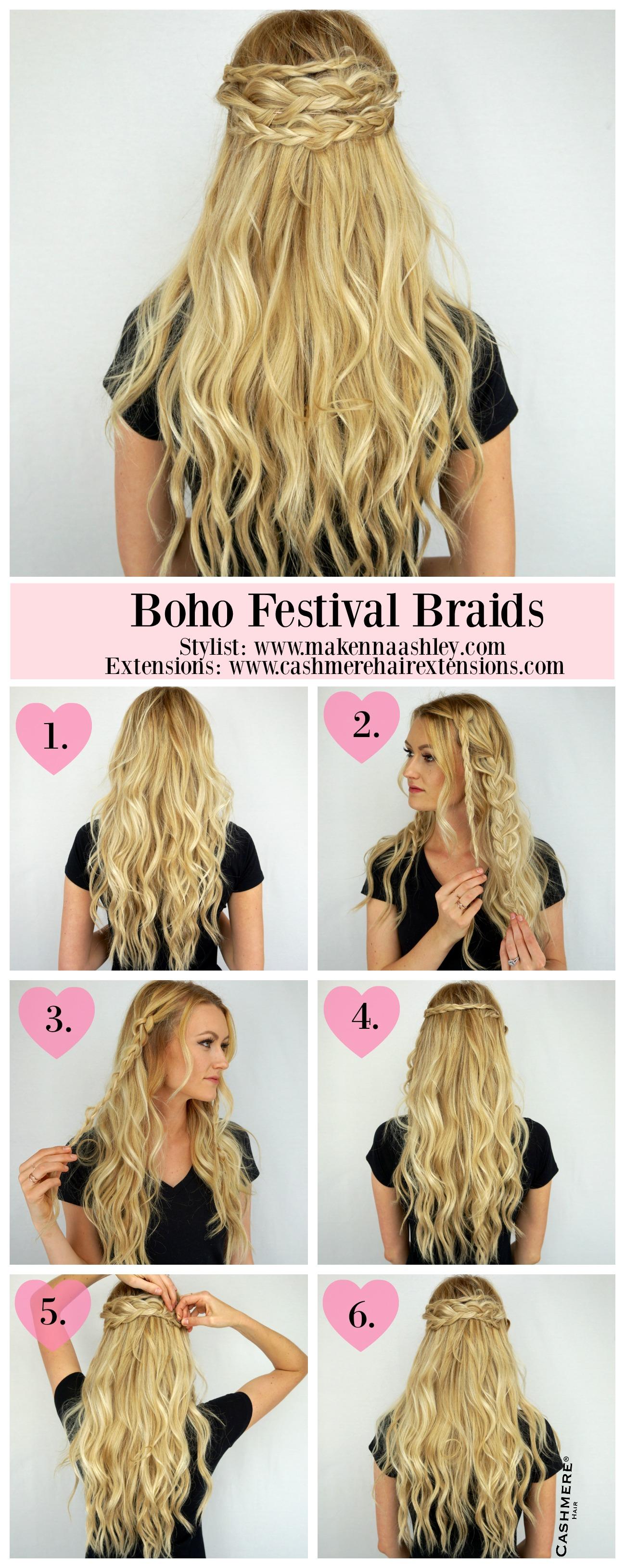 Boho Festival Braids Tutorial