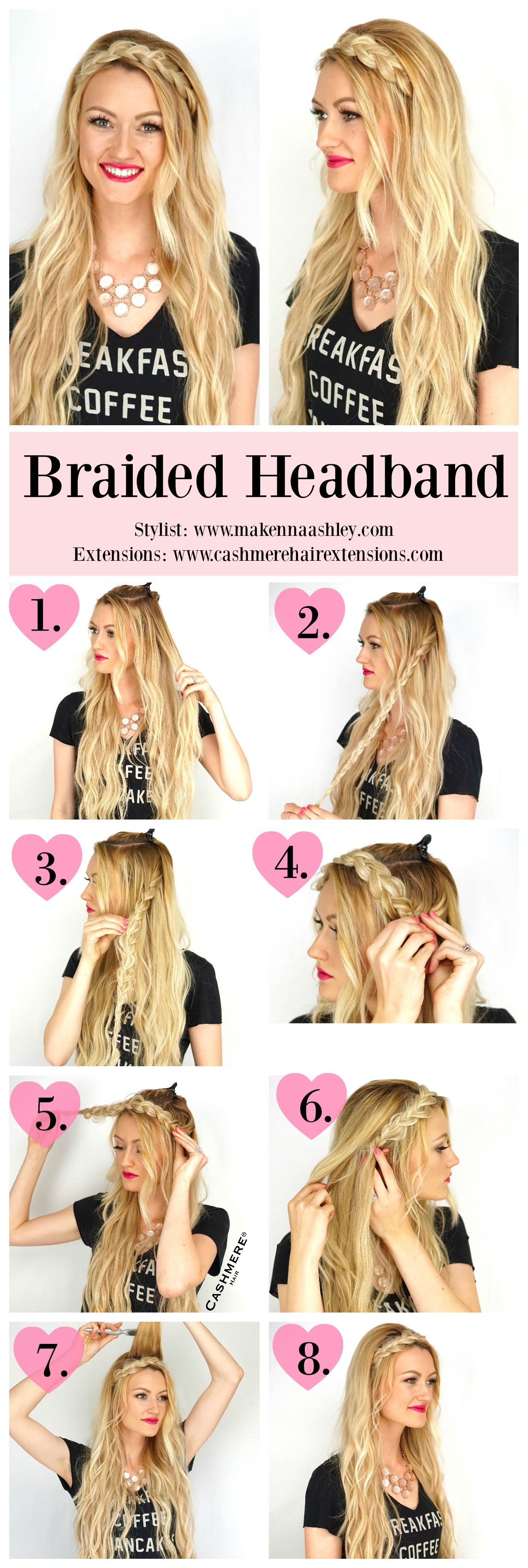 Wondrous Braided Headband Tutorial Cashmere Hair Clip In Extensions Hairstyles For Women Draintrainus