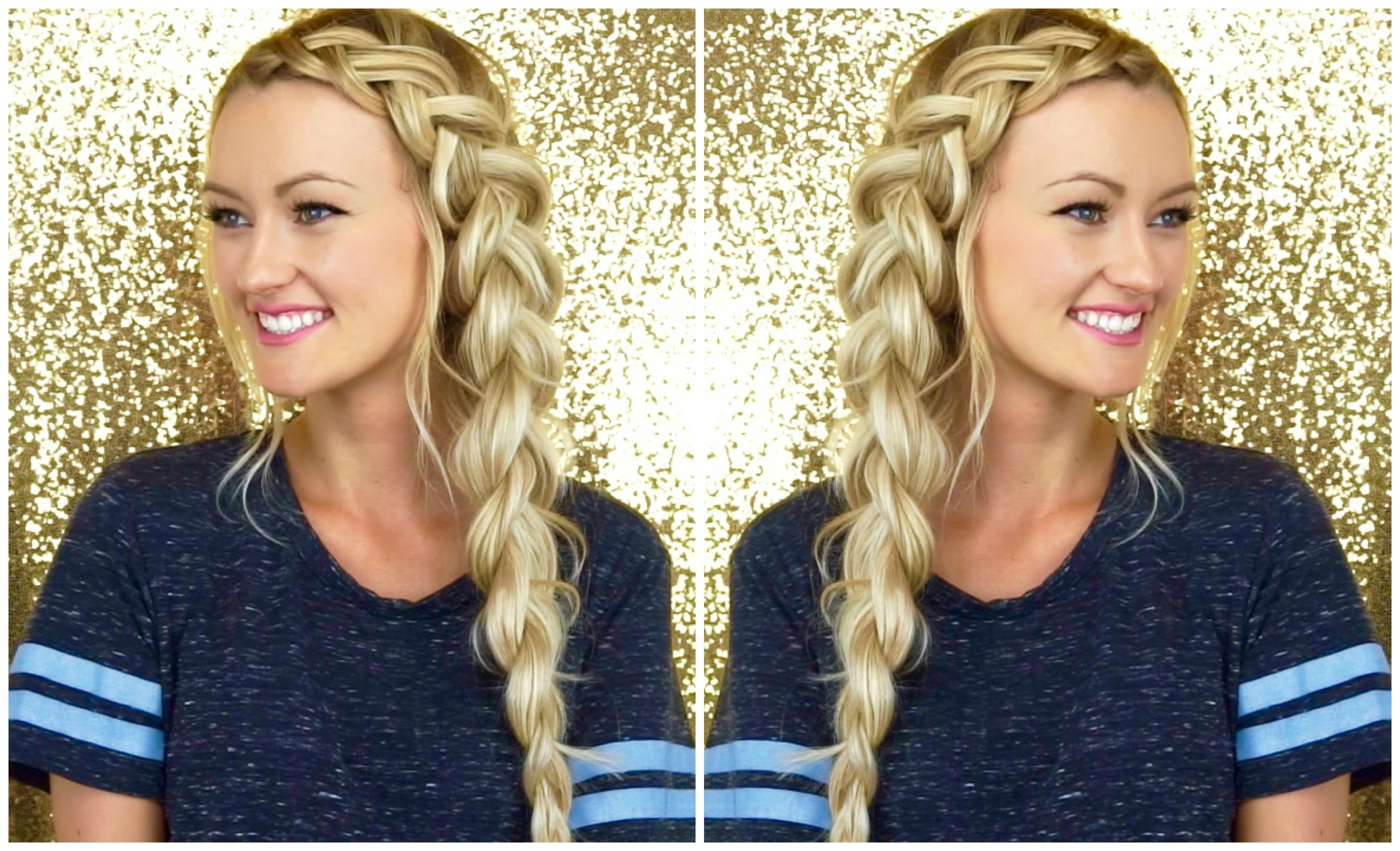 Chunky Side Dutch Braid Tutorial Cashmere Hair Extensions