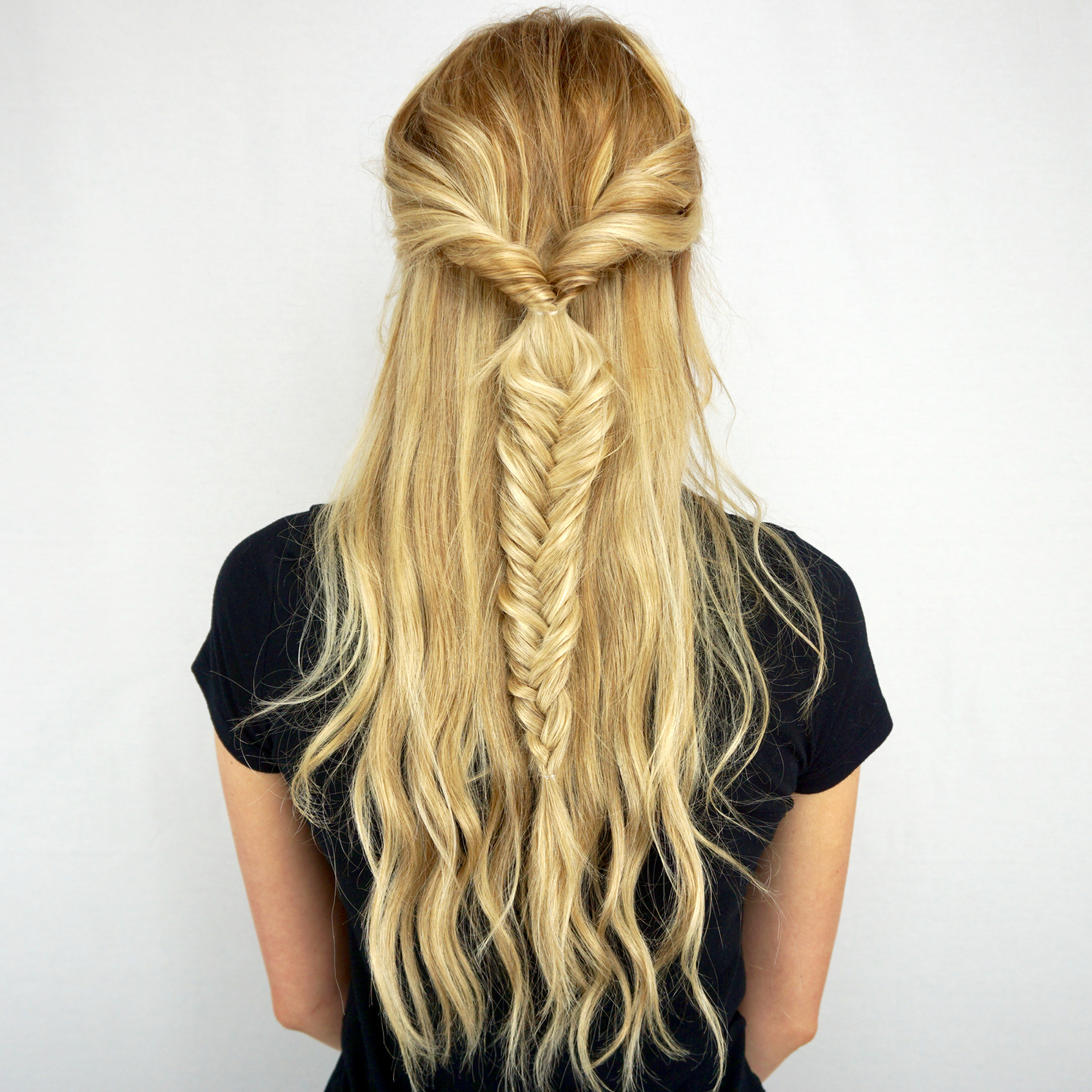 twisted fishtail braid tutorial cashmere hair extensions
