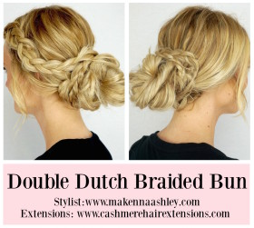 Double Dutch Braided Bun Tutorial