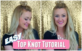 Easy Half Up Top Knot Tutorial