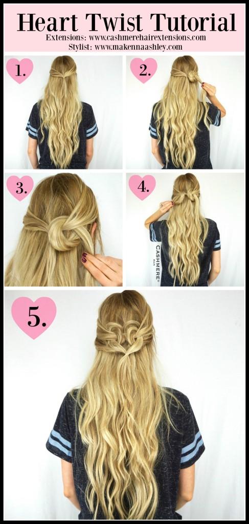 Heart Twist Tutorial Cashmere Hair