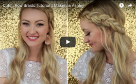 Dutch Row Braid Tutorial