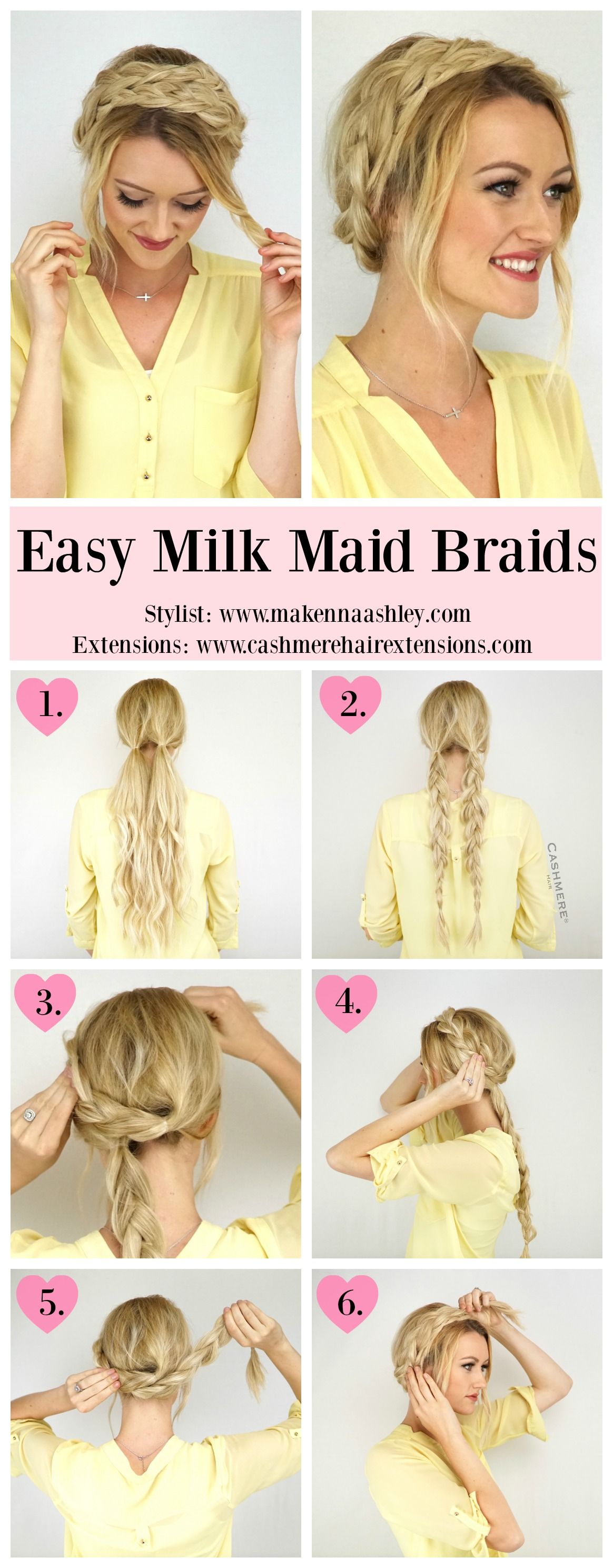 Milk Maid Braids