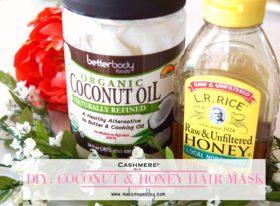 DIY Coconut Oil and Honey Hair Mask