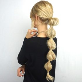 Bubble Ponytail Tutorial