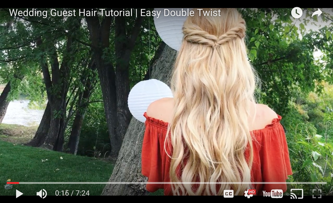 Wedding Guest Hair   Double Twists
