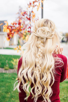 Boho Braids With Rose Bun Tutorial