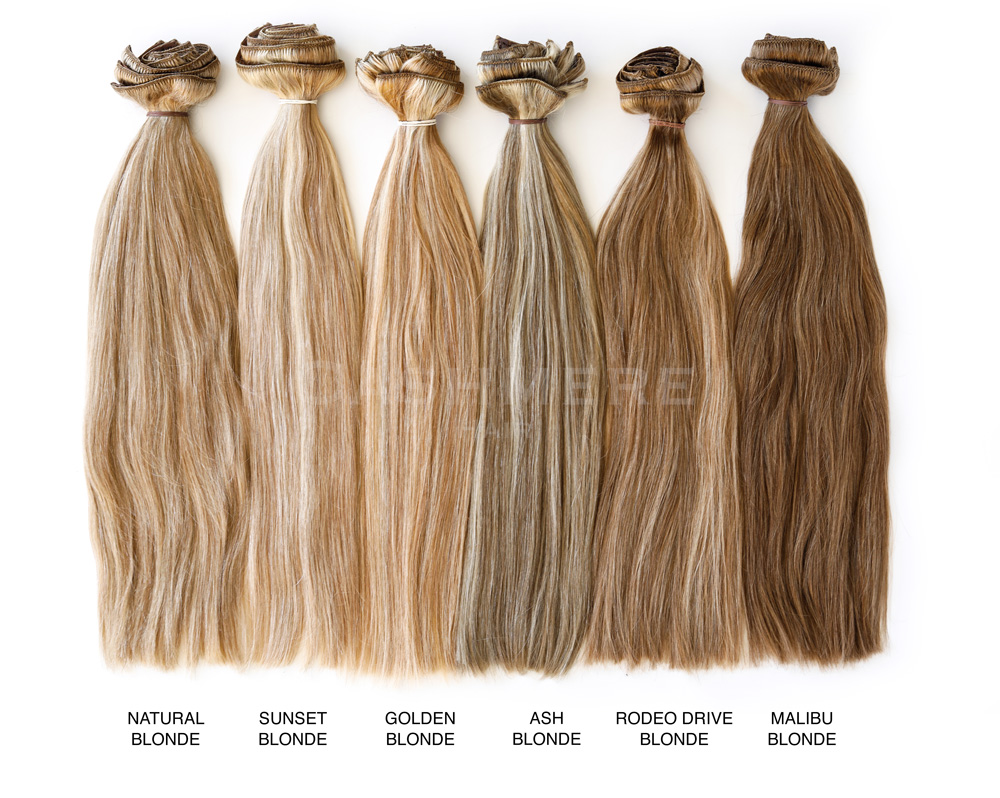 Hair Extension Color Chart Cashmere Hair Clip In Extensions