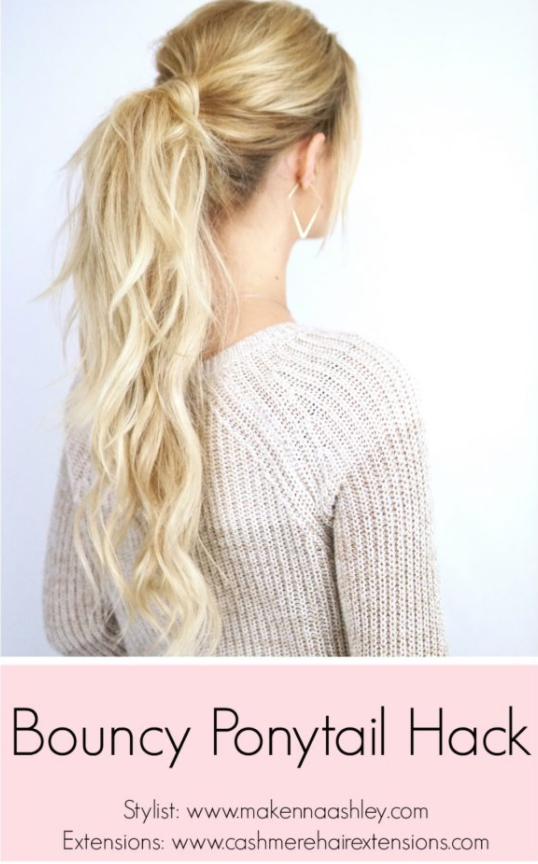 Bouncy Ponytail Hack Cashmere Hair Clip In Extensions