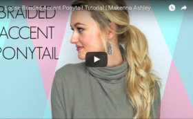 Braided Accent Ponytail Tutorial