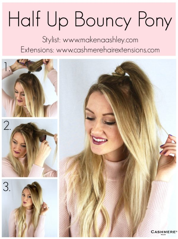 Half Up Bouncy Ponytail Tutorial