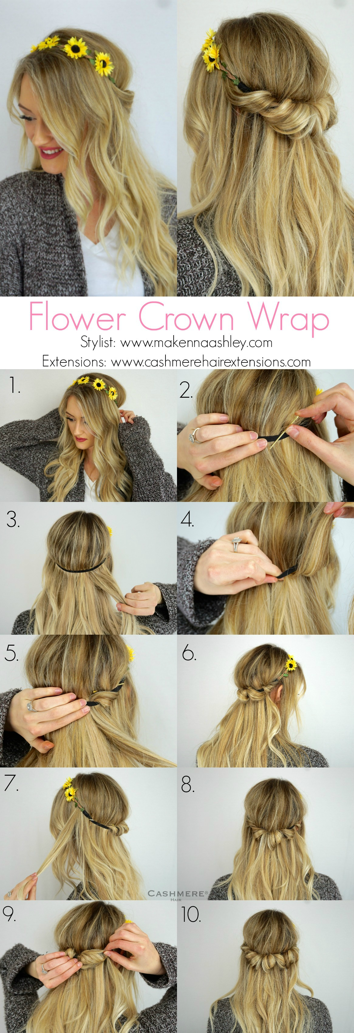 Spring hair tutorial with flower crown cashmere hair clip in using a flower crown headband well create a simple yet stunning hairstyle and share our secrets in how to achieve this look you can use any flower crown izmirmasajfo