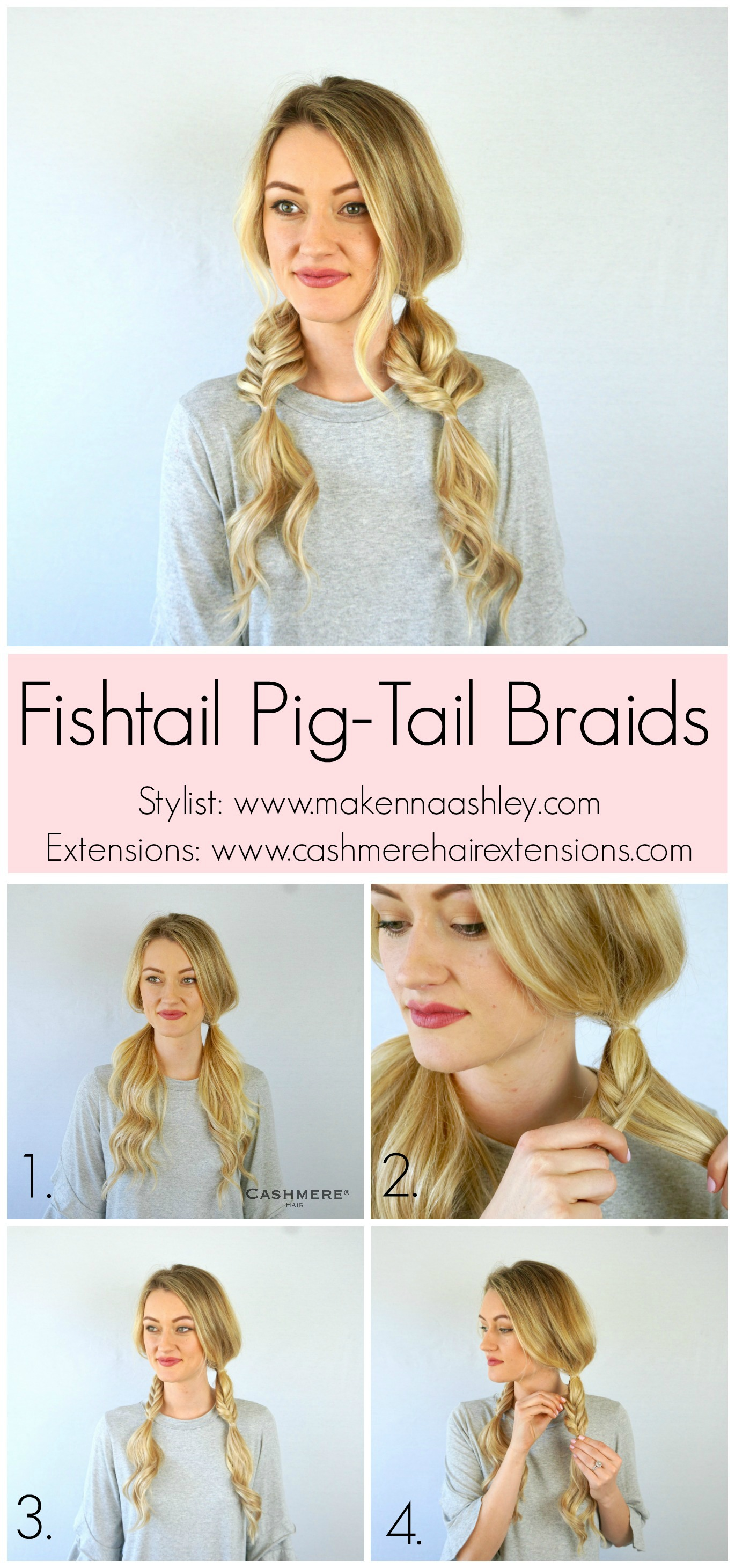 Mini Fishtail Pig Tail Braids