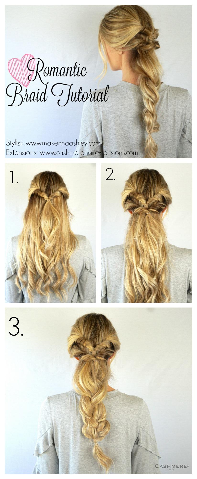 Romantic Braid Tutorial | Cashmere Hair Clip In Extensions