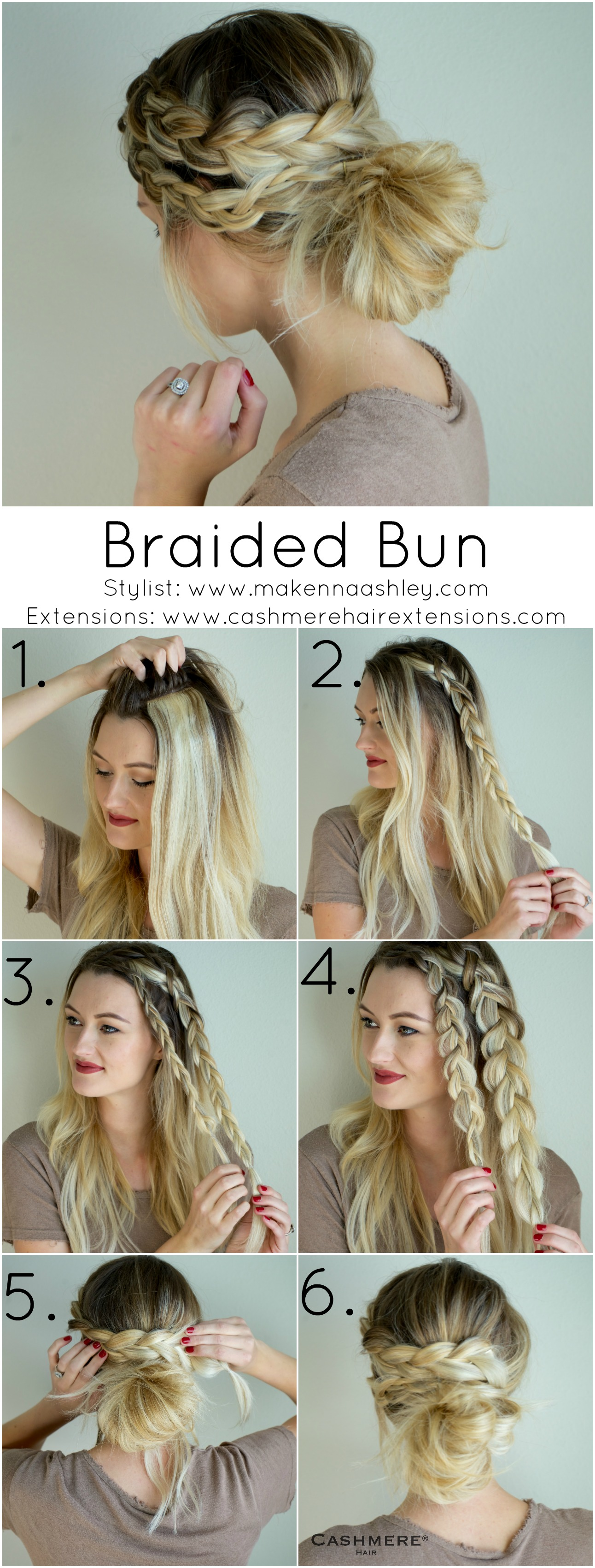 Braided Bun with Clip In Extensions