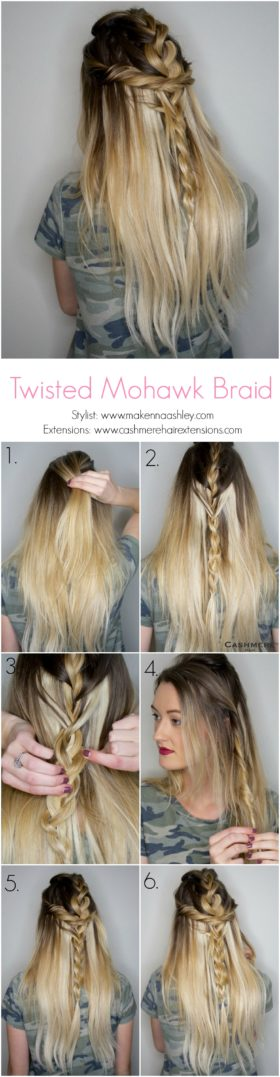 Mohawk Braid With A Twist