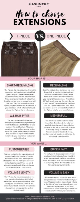 How to Choose 7 Piece VS. One Piece Extensions