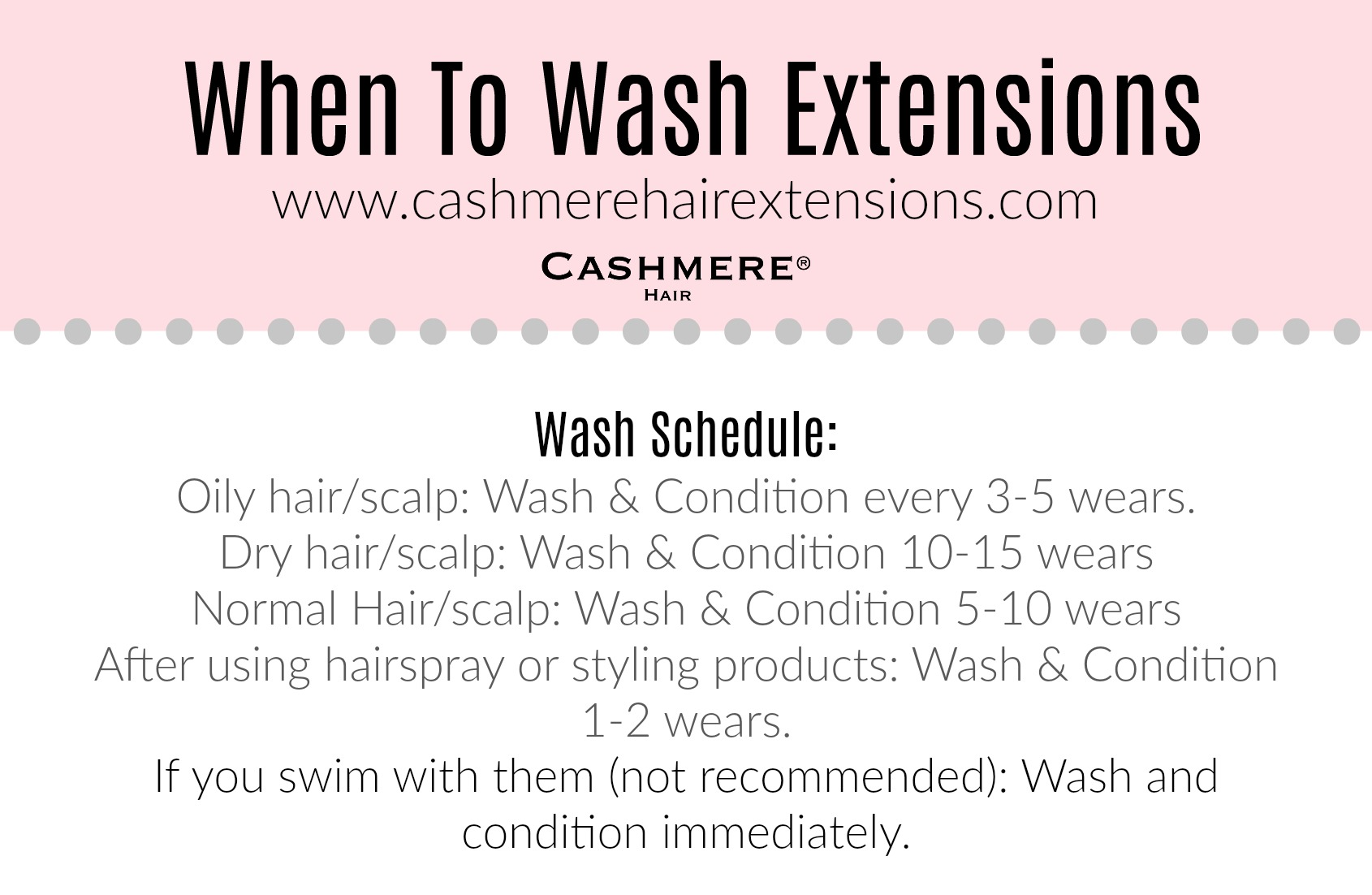 when to wash hair extensions