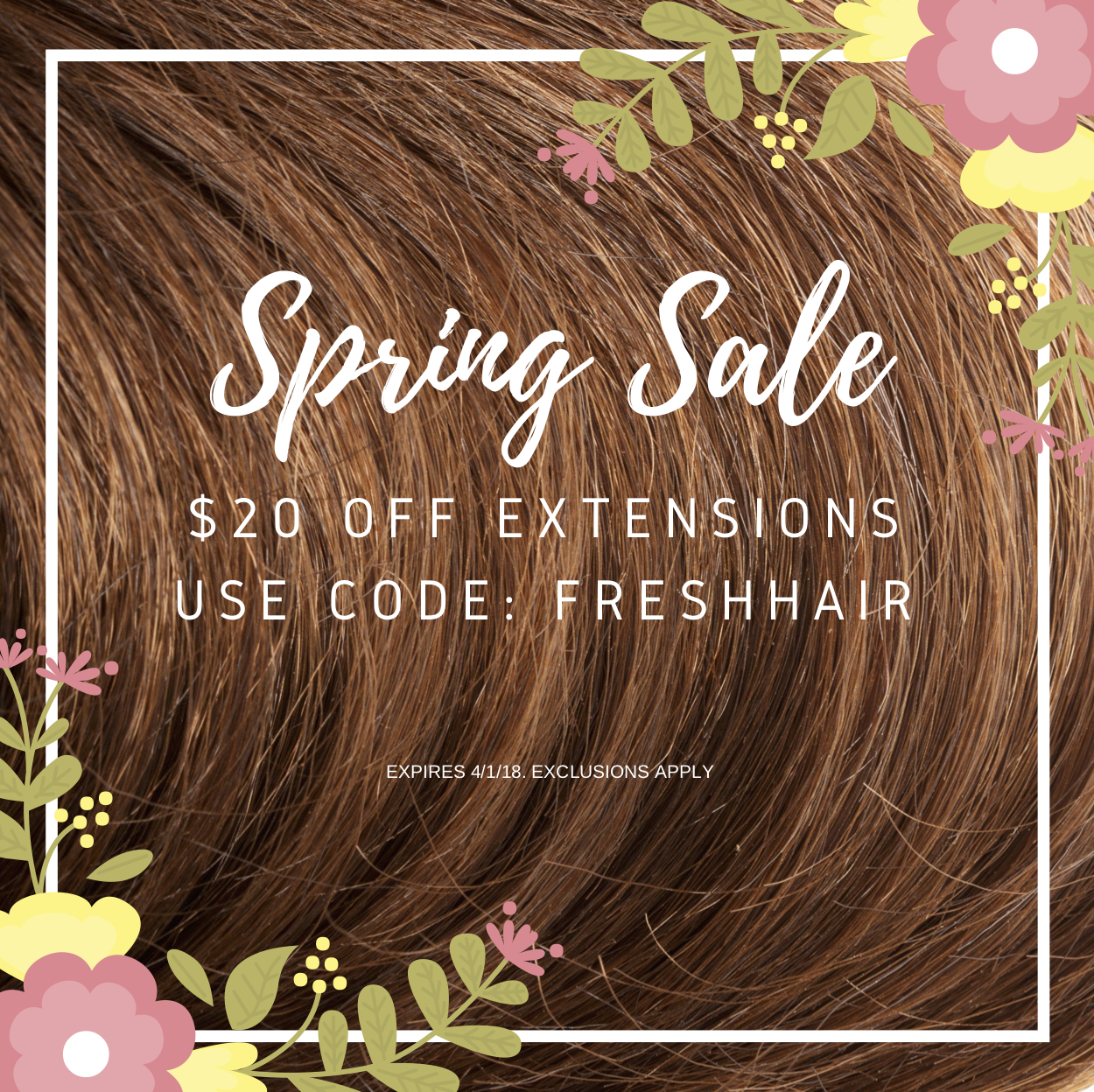 cashmere hair Spring Sale $20 off extensions