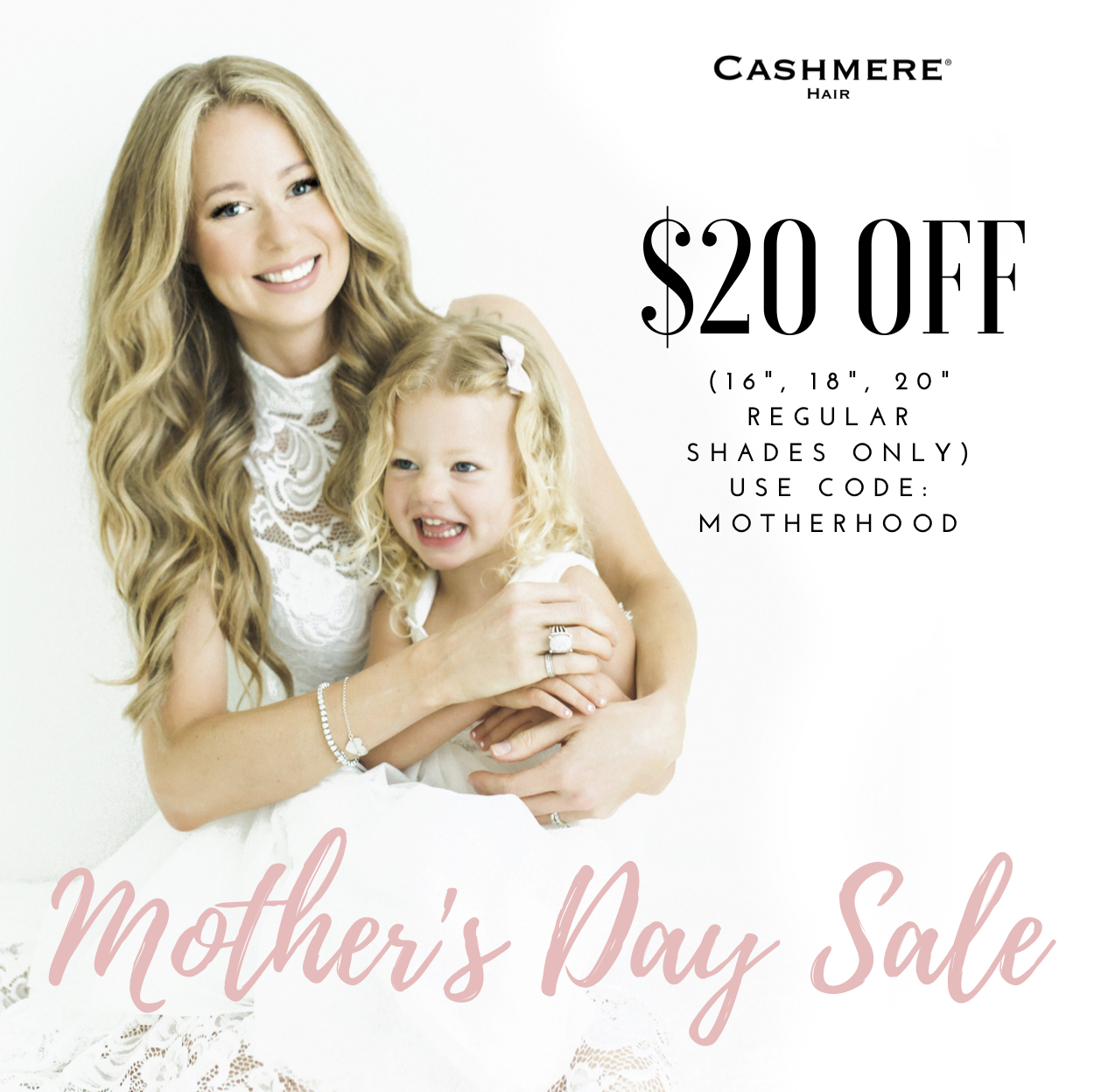 Mothers day sale cashmere hair extensions coupon code promotion promo code