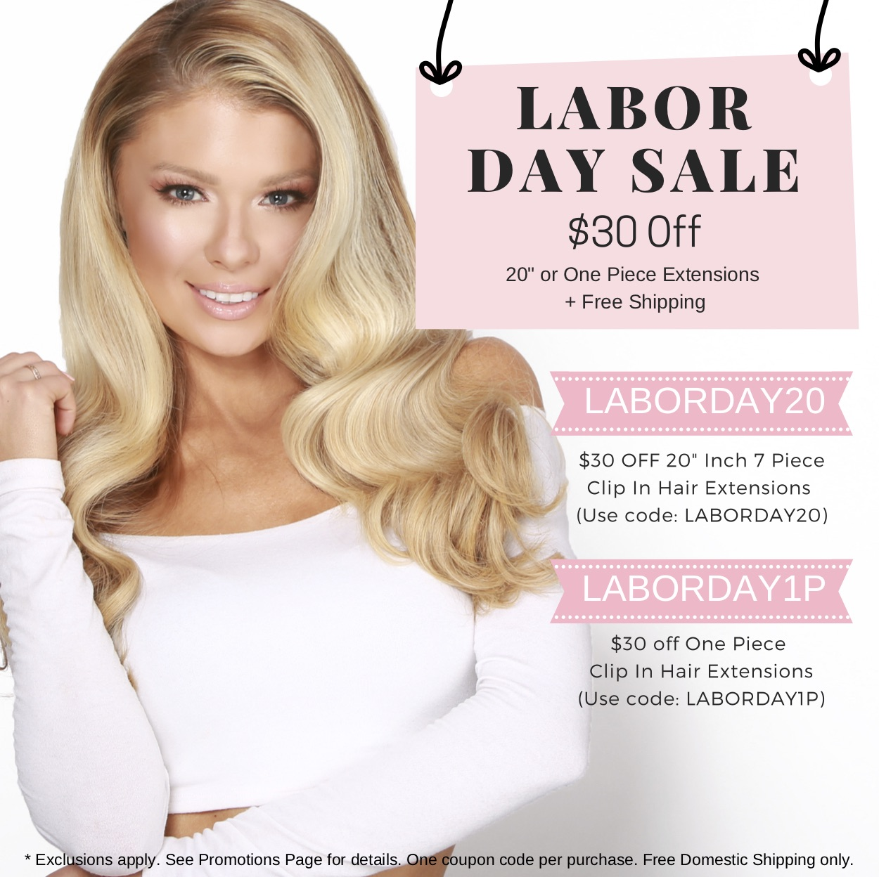 labor day sale coupon code cashmere hair